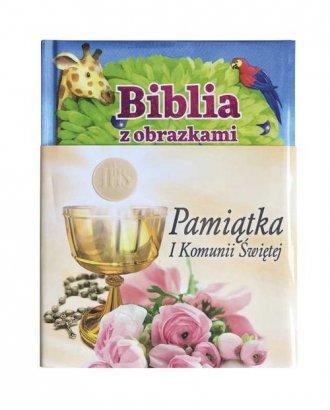 Biblia z obrazkami - różowa. Pamiątka - okładka książki