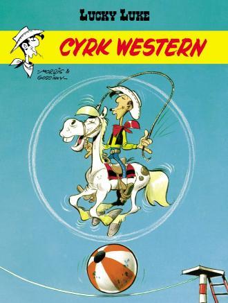 Cyrk Western Lucky Luke - okładka książki