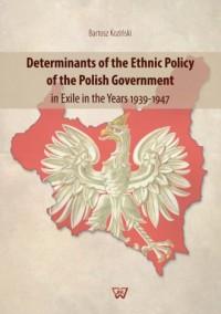 Determinants of the Ethnic Policy - okładka książki