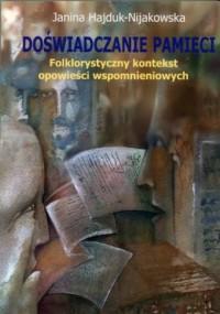 Doświadczanie pamięci. folklorystyczny - okładka książki