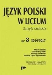 Język polski w Liceum. Zeszyty Kieleckie nr 3 2016/2017 - okładka podręcznika