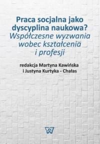 Praca socjalna jako dyscyplina - okładka książki
