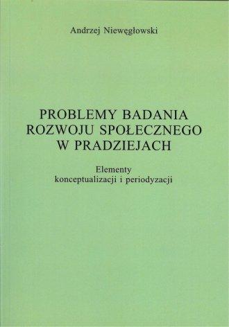 Problemy badania rozwoju społecznego - okładka książki