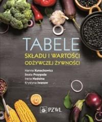 Tabele składu i wartości odżywczej żywności - okładka książki