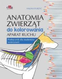 Anatomia zwierząt do kolorowania. - okładka książki