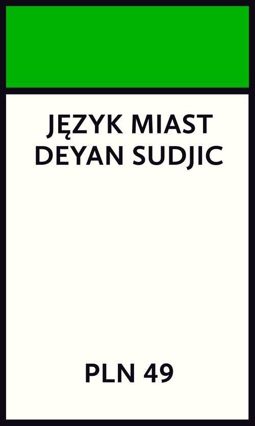 Język miast - okładka książki