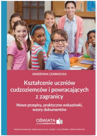 Kształcenie uczniów cudzoziemców - okładka książki