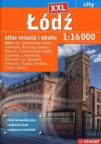 Łódź plus 15 XXL atlas miasta - okładka książki