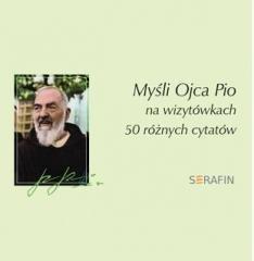 Myśli Ojca Pio - 50 różnych cytatów - okładka książki