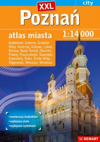Poznań plus 17 XXL atlas miasta - okładka książki
