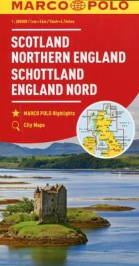 Szkocja Anglia Północna mapa samochodowa 1:300 - okładka książki
