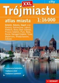 Trójmiasto plus 14 XXL atlas miasta - okładka książki
