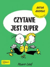 Czytanie jest super - Munro Leaf - okładka książki