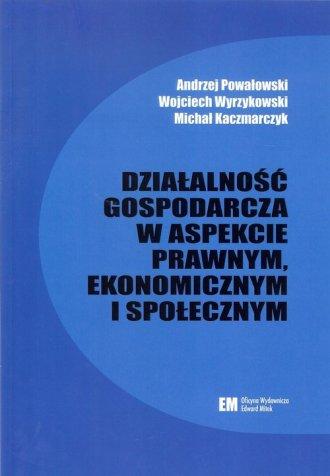 Działalność gospodarcza w aspekcie - okładka książki