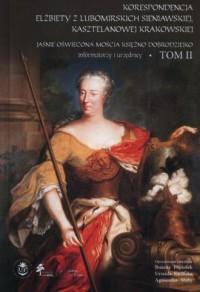 Korespondencja Elżbiety Lubomirskiej - okładka książki