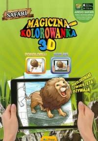 Magiczna kolorowanka 3D Safari - okładka książki