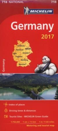 Mapa Germany  1:750 000 2017 - okładka książki