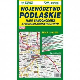 Województwo podlaskie. Mapa administracyjno-samochodowa - okładka książki