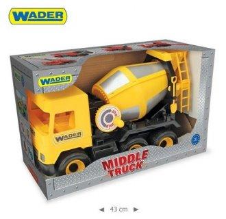 Middle Truck. Betoniarka żółta - zdjęcie zabawki, gry