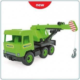 Middle Truck. Dźwig zielony w kartonie - zdjęcie zabawki, gry