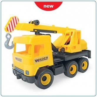 Middle Truck. Dźwig żółty w kartonie - zdjęcie zabawki, gry