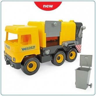 Middle Truck. Śmieciarka żółta - zdjęcie zabawki, gry