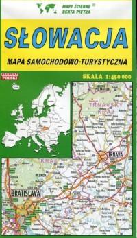 Słowacja mapa samochodowo-turystyczna - okładka książki