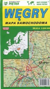 Węgry mapa samochodowo - turystyczna - okładka książki
