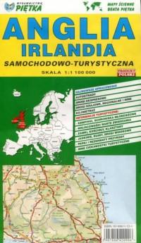 Wielka Brytania i Irlandia - mapa samochodowo - turystyczna - okładka książki