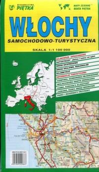Włochy - mapa samochodowo - turystyczna - okładka książki