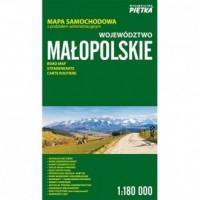 Województwo małopolskie mapa samochodowa - okładka książki