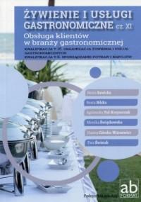 Żywienie i usługi gastronomiczne cz. XI. Obsługa klientów w branży gastronomicznej - okładka podręcznika