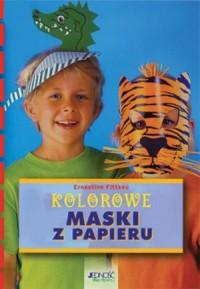 Kolorowe maski z papieru - okładka książki