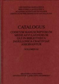 Catalogus codicum manuscriptorum - okładka książki