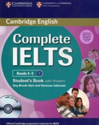 Complete IELTS Bands 4-5 Students Pack (Students Book with Answers with CD-ROM and Class Audio CDs (2)) - okładka podręcznika