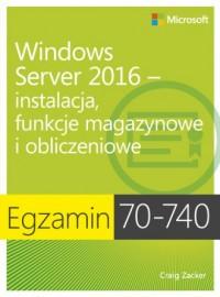 Egzamin 70-740: Windows Server - okładka książki