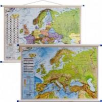 Europa mapa ścienna polityczna i fizyczna dwustronna 1: 7 000 000 - okładka książki