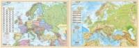 Europa polityczno-fizyczna mapa-podkładka na biurko - okładka książki
