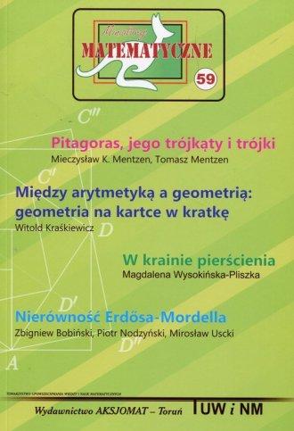 Miniatury matematyczne 59 Pitagoras - okładka podręcznika