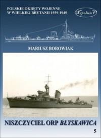 Niszczyciel ORP Błyskawica - okładka książki