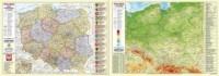 Polska fizyczno-administracyjna mapa - podkładka na biurko - okładka książki