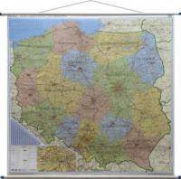 Polska mapa ścienna administracyjno-drogowa 1:500 000 - okładka książki