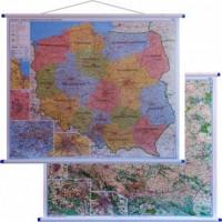 Polska mapa ścienna administracyjno-drogowa 1:700 000 - okładka książki