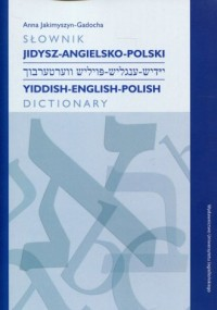 Słownik jidysz-angielsko-polski - okładka książki