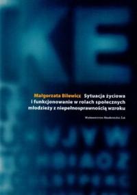 Sytuacja życiowa i funkcjonowanie w rolach społecznych młodzieży z niepełnosprawnością wzroku - okładka książki