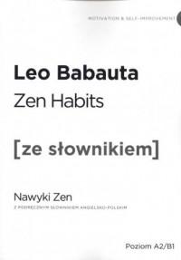 Zen habits. Wersja angielska z - okładka książki