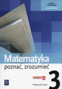 Matematyka poznać, zrozumieć 3. - okładka podręcznika