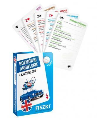 Rozmówki angielskie i karty do - okładka podręcznika