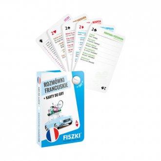 Rozmówki francuskie i karty do - okładka podręcznika