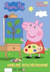 Wielkie kolorowanie. Peppa Pig - okładka książki